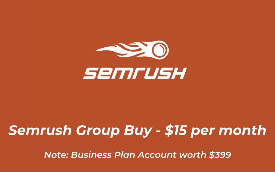 Semrush Group Buy